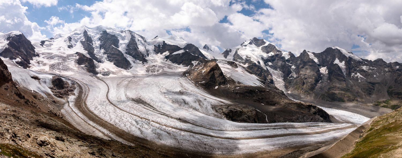 Persgletscher mit Berninagruppe
